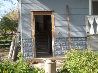 Back Doors with casing.