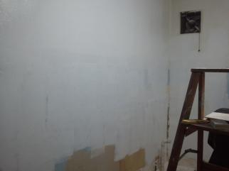 A Primed wall (coat #1)