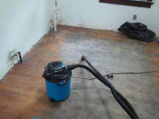 Primed 2 Coats + Clean floor (oh and a shop vac)