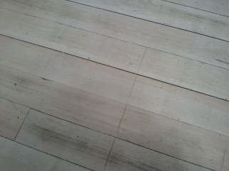 Kitchen Pine floor Detail (first pass with 34 grit)