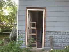 Backdoor trim work continued