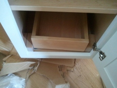 """Pull-out Draw in 15"""" cabinet"""