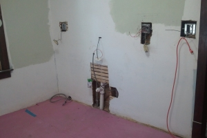 Electric and New Plumbing in Kitchen