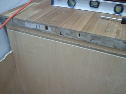 Ikea counter top, not solid wood