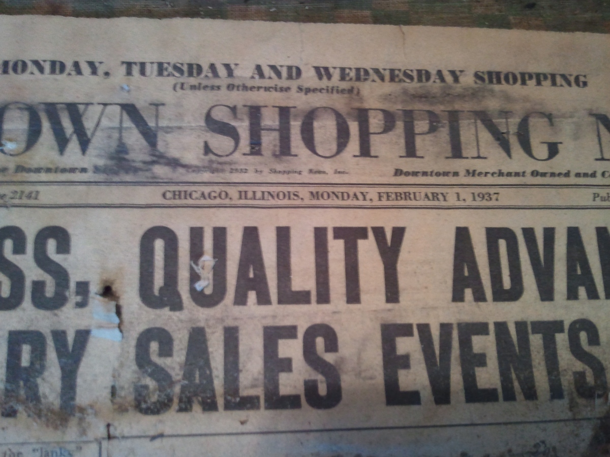 Newspaper under layment