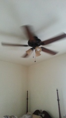New ceiling fan in our room.