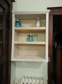 Cabinet 'box' hung on the wall with only one stud