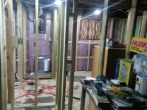 View of linen closet door