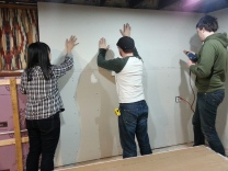 hanging drywall in action #1