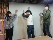 hanging drywall in action #2