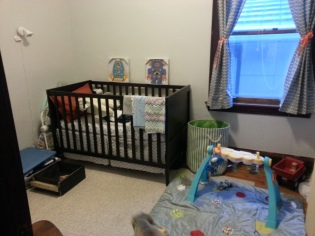 baby boy's room in the works.