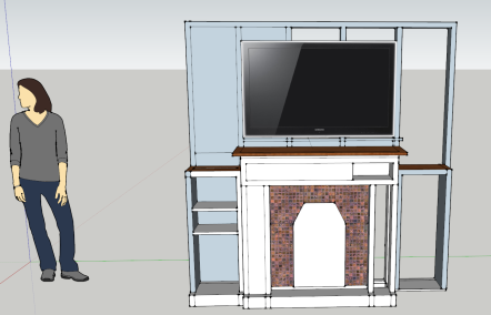 The SketchUp rendering