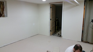 Door to closets/office.