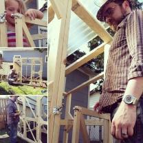Chicken coop building